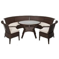 ThresholdTM Rolston 5 Piece Wicker Sectional Patio Dining Target Furniture Set