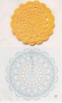 Bildergebnis für mandalas tejidos al crochet patrones Motif Mandala Crochet, Crochet Circles, Crochet Doily Patterns, Crochet Diagram, Crochet Round, Crochet Chart, Crochet Squares, Crochet Home, Thread Crochet