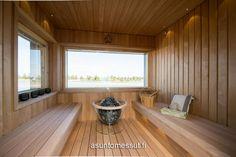 Der Saunaofen Globe setzt Akzente und ist das Highlight der Sauna. Nähere Infos zum Harvia Globe unter http://www.wellness-stock.de/Harvia-Saunaofen-Globe 14 Heikius Hus-Talo - Sauna @ Loma-asuntomessut Kalajoella