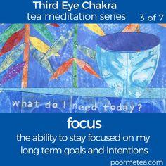 7 Days 7 Chakras Third Eye Chakra Tea Meditation, Focus