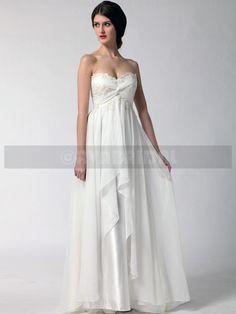 grecian goddess wedding dresses | Grecian Goddess Wedding Dress - Stacey -front2