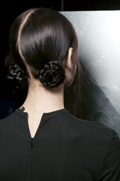 braided buns looking grown-up when done low and back