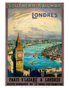 London vintage French travel poster  http://www.allposters.com/-sp/Londres-SR-c-1923-1947-Posters_i8027434_.htm