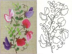 Stitch embroidery with patterns 0 Mexican Embroidery, Folk Embroidery, Ribbon Embroidery, Cross Stitch Embroidery, Embroidery Flowers Pattern, Embroidery Patterns Free, Hand Embroidery Designs, Flower Patterns, Bone Bordado