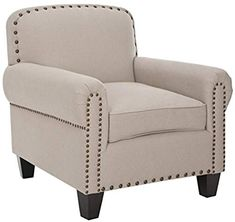 Great for Safavieh Mercer Collection Abby Beige Linen Club Chair Living Room Furniture. [$333.99] looknewclothingshop from top store Small Living Room Chairs, New Living Room, Cool Chairs, Modern Chairs, High Chairs, Accent Chairs, Beige, Furniture, Home Decor