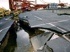 A 7.2 Earthquake in Kobe, Japan completely fractured a roadway. 1995- The Great Hanshin Earthquake Disaster.
