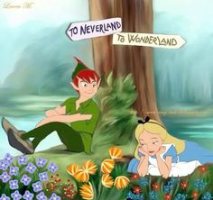 To Wonderland or Neverland? Maybe Neverland? I can't choose, both are wonderful places!