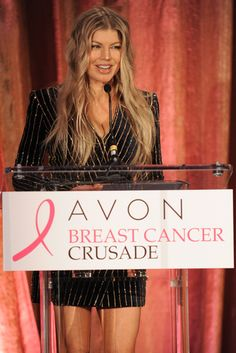 Avon Global Brand Ambassador Fergie attended @avonfoundation's annual tribute reception celebrating Centers of Excellence and AVON 39 participants featured on @extratv