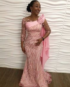 The complete collection of Exotic Ankara Gown Styles for beautiful ladies in Nigeria. These are the ideal ankara gowns Latest African Fashion Dresses, African Dresses For Women, African Print Fashion, African Prints, African Women, Lace Styles For Wedding, Lace Dress Styles, African Wedding Attire, African Attire