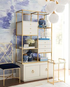 Cynthia Rowley for Hooker Furniture Swan Room Divider - Raumteiler Home Office Design, Home Office Decor, House Design, Office Ideas, Teen Room Decor, Living Room Decor, Bedroom Decor, Sliding Room Dividers, Cheap Home Decor