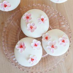 cherry blossom silky cupcakes