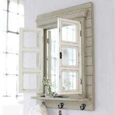 vintage fenster spiegel by lybste lybste. Black Bedroom Furniture Sets. Home Design Ideas