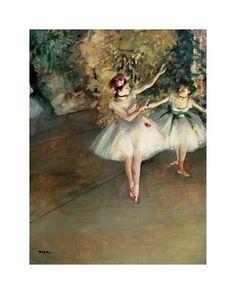 Edgar Degas, paintings - Two Dancers on Stage Edgar Degas, Degas Dancers, Ballet Dancers, Ballerinas, Renoir, Ballerine Degas, Elodie Frégé, Degas Paintings, Degas Drawings