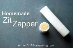 """This is a really simple recipe for """"zapping"""" zits. It requires just two ingredients (coconut oil and tea tree oil) which both have antifungal and antibacterial properties, while the coconut oil helps to quickly reduce redness and puffiness. Mix up the ingredients, place in a lip balm tube and carry around with you to apply every time a pimple appears."""