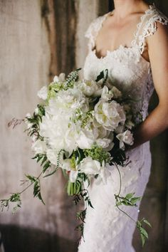 Pretty white bouquet: http://www.stylemepretty.com/pennsylvania-weddings/chadds-ford-pennsylvania/2015/05/01/rustic-pennsylvania-horse-farm-wedding/ | Photography: Sweetwater - http://sweetwaterportraits.com/