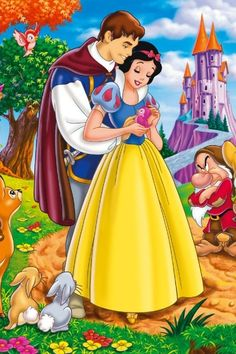 Disney Snow White and Prince Charming Walt Disney, Disney Magic, Disney Art, Snow White 1937, Snow White Prince, Disney Collage, Disney Princess Snow White, Snow White Disney, Images Disney