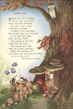 Poem by Walter De La Mare Milo Winter American book illustrator B. 1888 - D. 1956