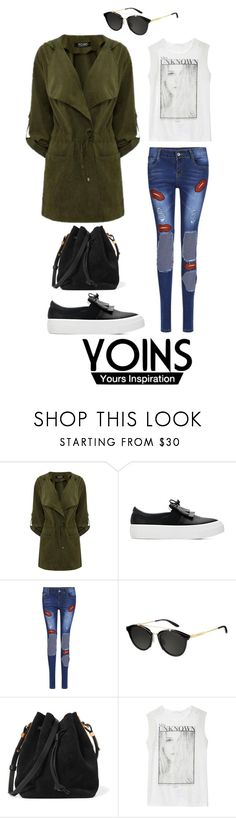 """YOINS GREEN HOODED TRENCH COAT"" by menoly ❤ liked on Polyvore featuring Carrera, Sophie Hulme, Zara, yoins and yoinscollection"