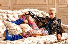 Kristen Stewart makes a striking appearance in the December-January 2016.2017 issue of Vogue Paris. The blonde star poses for Karl Lagerfeld on location at Paris' Ritz Hotel for the spread.