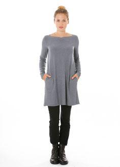 Tunika von The Swiss Label bei nobananas mode #nobananas #top #velour #vneck #small #pocket #colors nobananas,de/shop