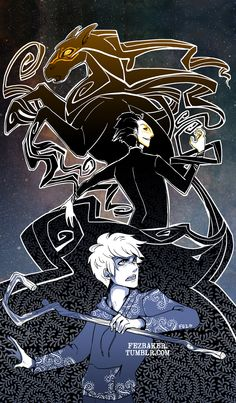 Pitch Black and Jack Frost by FezBaker.deviantart.com