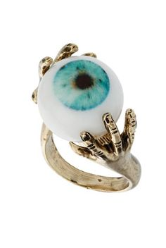 eyeball ring... I would totally wear this just to freak people out... and it's cool.  :p