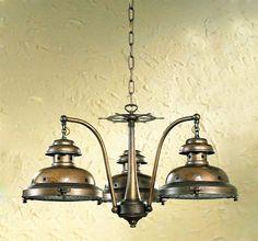 3 Light Escotilha Nautical Chandelier