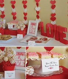 Valentine Baby Shower Desserts