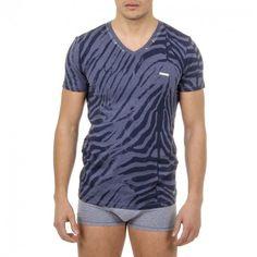 Diesel Mens Underwear T Shirt UMTEE MICHAEL Dark Blue Front Logo Short Sleeve #Diesel #GraphicTee
