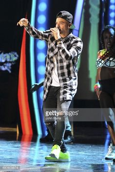 Maluma performs onstage during Univision's Premios Juventud 2015 rehearsal at Bank United Center on July 15 2015 in Miami Florida