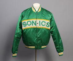 Rare Vintage 1980s Seattle SONICS Starter JACKET / by saintgabardine on Etsy #supersonics