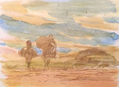 Images Drawn for the Nausicaa Motion Picture ===== Released in March of 1984 - image boards, tapestries drawn for the opening, etc ===== Notes: Yupa investigating the Sea of Corruption with his horse claws, Kai & Kui