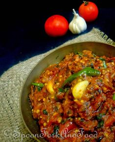Dhaba Style Baigan Bharta With Torn Mint Leaves Vegetarian Curry, Vegetarian Recipes, Cooking Recipes, Veg Curry, Vegetable Curry, Vegetarian Cooking, Easy Cooking, Vegetable Recipes, Baigan Recipes