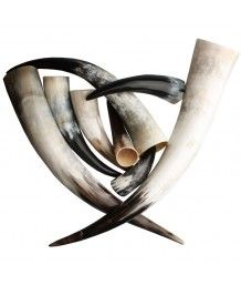 Polerede horn - kohorn - 25-30cm Horns, Abstract, Artwork, Work Of Art, Horn, Crescent Roll