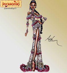 Disney Princesses Couture Collection - Pocahontas by Aaron Rodrigo / IG: @aaronrodrigo_