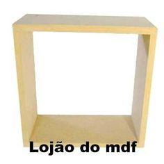 Nicho mdf cru - cod:NCH002 - Tamanho: 30x30x10cm - BR$16,80