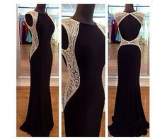 Prom Dresses,Evening Dress,Party Dresses,Sexy Prom Dresses,Prom Dress,Chiffon Backless Evening Gown,Long Formal Dress,Backless Prom Gowns,Open Backs Evening Dresses,Black Party Gowns