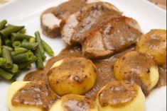 Recette de Kluski et rôti de porc