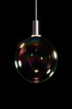 Presented last week at Design Miami, Front Design's new Surface Tension Lamp designed for Booo is pretty darn awesome. Essentially it's a light that constantly blows bubbles. This is totally brilliant! Vitra Design Museum, Lamp Design, Lighting Design, I Love Lamp, Great Inventions, Soap Bubbles, Design Studio, Front Design, Unique Furniture