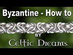 How To Make Byzantine Chain Mail Bracelet - Best Tutorial in 1080 HD Macro - YouTube