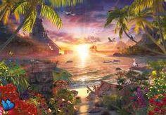Paradise Sunset, 18,000 pcs Sunrise/Sunset Jigsaw Puzzle