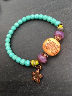 Quiet Whispers Positive Affirmation Bracelet by FeminineGenius