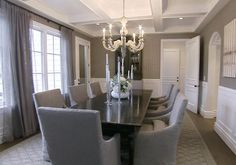 pretty dining room - love the drapes