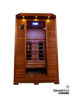 2 Person Infrared Sauna | SaunaMed Infrared Saunas 2 Person Luxury Cedar FAR Infrared Sauna EMR ...