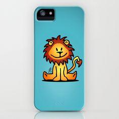 Cute little lion iPhone & iPod Case by Cardvibes - $35.00 #Cardvibes #Tekenaartje #Society6