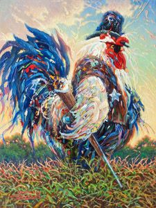 Rooster Cogburn by Larry Dyke - Dyke is one of the most successful and acclaimed artists of his generation. He paints powerful landscapes inspired by his deep, personal belief in Christ and his frequent travels to domestic, international, and exotic locales.
