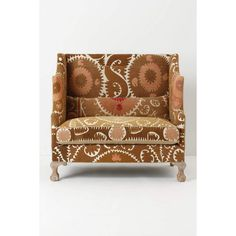 Greenfynch Settee, Vintage Suzani ($3,898) ❤ liked on Polyvore