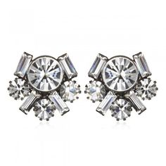 Tiffany and Baguette Cluster Earrings - these sparklers are perfect for any special occasion.
