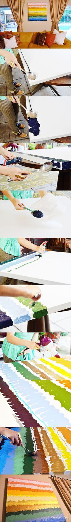 Malowane łyżką