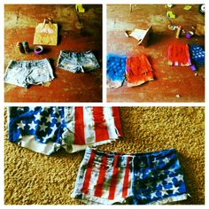 4th of July shorts!:)